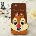 Cute Cartoon Cover Disney Dale Silicone Cases Skin for iPhone 6 Plus 5.5 - Brown