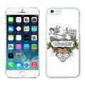 Floral Coach Covers Hard Back Cases Protective Shell Skin for iPhone 6 Plus 5.5 Skull - White