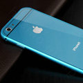 Luxury Aluminum Alloy Metal Bumper Frame Covers + PC Back Cases for iPhone 6 Plus 5.5 - Blue
