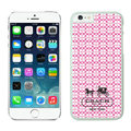 Plastic Coach Covers Hard Back Cases Protective Shell Skin for iPhone 6 Plus 5.5 Pink - White