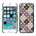 Quality Coach Covers Hard Back Cases Protective Shell Skin for iPhone 6 Plus 5.5 Flower - Black