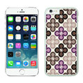 Quality Coach Covers Hard Back Cases Protective Shell Skin for iPhone 6 Plus 5.5 Flower - White