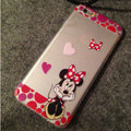 TPU Cover Disney Minnie Mouse Silicone Case Bowknot for iPhone 6 Plus 5.5 - Transparent