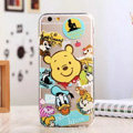 TPU Cover Disney Winnie the Pooh Silicone Case Donald Duck for iPhone 6 Plus 5.5 - Transparent
