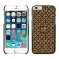 Tailor Made Coach Covers Hard Back Cases Protective Shell Skin for iPhone 6 Plus 5.5 Brown - Black
