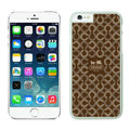 Tailor Made Coach Covers Hard Back Cases Protective Shell Skin for iPhone 6 Plus 5.5 Brown - White