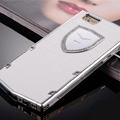 Vertu Swarovski Bling Metal Leather Cover Front Back Case for iPhone 5 - White White