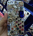 Bling Swarovski crystal cases Peacock diamond cover for iPhone 6S - White