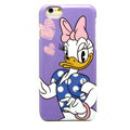 Brand Donald Duck Covers Plastic Back Cases Cartoon Cute for iPhone 6S - Purple