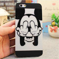 Brand Mickey Mouse Covers Plastic Matte Back Cases Cartoon Cute for iPhone 6S - Black