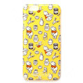 Brand Winnie the Pooh Covers Plastic Back Cases Cartoon Cute for iPhone 6S - Yellow