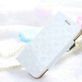 Classic LV folder Leather Cases Book Flip Holster Cover for iPhone 6S - White