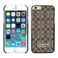 Cool Coach Covers Hard Back Cases Protective Shell Skin for iPhone 6S - Black