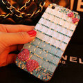 Funky Swarovski Bling Rhinestone Case Bowknot Diamond Cover for iPhone 6S - Blue
