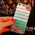 Funky Swarovski Bling Rhinestone Case Bowknot Diamond Cover for iPhone 6S - Green