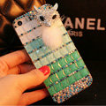 Funky Swarovski Bling Rhinestone Case Fox Diamond Cover for iPhone 6S - Green