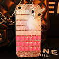 Funky Swarovski Bling Rhinestone Case Fox Diamond Cover for iPhone 6S - Pink