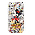 Genuine Cute Cartoon Minnie Mouse Covers Plastic Back Cases Matte for iPhone 6S - Red