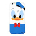 Genuine Cute Donald duck Covers Plastic Back Cases Cartoon Matte for iPhone 6S - Blue