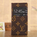 Hot Sale LV Louis Vuitton Bracket Leather Flip Cases Holster Covers for iPhone 6S - Brown