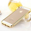 Hot sale Swarovski Bling Diamond Metal Bumper Frame Case Cover for iPhone 6S - Gold