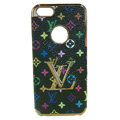 LOUIS VUITTON LV Luxury leather Cases Hard Back Covers Skin for iPhone 6S - Black