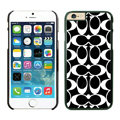 Luxury Coach Covers Hard Back Cases Protective Shell Skin for iPhone 6S Black - Black