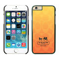 Luxury Coach Covers Hard Back Cases Protective Shell Skin for iPhone 6S Orange - Black