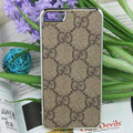 Luxury GUCCI Ultrathin Metal edge Hard Back Cases Covers for iPhone 6S - Brown