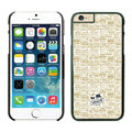 Plastic Coach Covers Hard Back Cases Protective Shell Skin for iPhone 6S Beige - Black