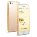 Swarovski Bling Crystal Ultrathin Metal Bumper Frame Case Cover for iPhone 6S - Gold