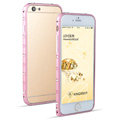 Swarovski Bling Crystal Ultrathin Metal Bumper Frame Case Cover for iPhone 6S - Pink
