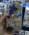 Swarovski crystal cases Bling Grapes diamond cover for iPhone 6S - Blue