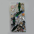 Swarovski crystal cases Bling Panda diamond cover skin for iPhone 6S - Green