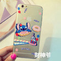 Transparent Cover Disney Stitch Silicone Cases Cute for iPhone 6S - White