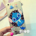 Transparent Cover Disney Stitch Silicone Shell Cute for iPhone 6S - White