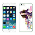 Ultrathin Coach Covers Hard Back Cases Protective Shell Skin for iPhone 6S Girls - White