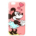 Brand Mickey Mouse Covers Plastic Back Cases Cartoon Heart for iPhone 7 - Pink