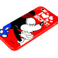 Cartoon Cover Disney Mickey Mouse Silicone Cases Shell for iPhone 7 - Red