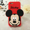 Cute Cartoon Cover Disney Mickey Silicone Cases Skin for iPhone 7 - Red