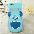 Cute Cartoon Cover Disney Sulley Silicone Cases Skin for iPhone 7 - Blue