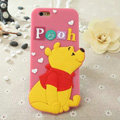 Cute Cartoon Cover Disney Winnie the Pooh Silicone Cases Skin for iPhone 7 - Pink