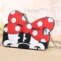 Cute Cover Cartoon Minnie Silicone Cases Chain for iPhone 7 - Red