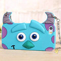 Cute Cover Cartoon Sulley Silicone Cases Chain for iPhone 7 - Blue