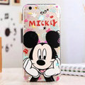 Cute Cover Disney Mickey Mouse Silicone Case Cartoon for iPhone 7 - Transparent