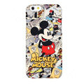 Genuine Cute Cartoon Mickey Mouse Covers Plastic Back Cases Matte for iPhone 7 - Red