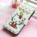 Hello Kitty Side Flip leather Case Holster Cover Skin for iPhone 7 - White 04