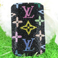 Luxury Bling Holster Covers LV Louis Vuitton Crystal diamond Cases for iPhone 7 - Black