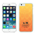 Luxury Coach Covers Hard Back Cases Protective Shell Skin for iPhone 7 Orange - White