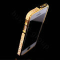 Luxury Swarovski Bling Diamond Metal Bumper Frame Case Cover for iPhone 7 - Gold